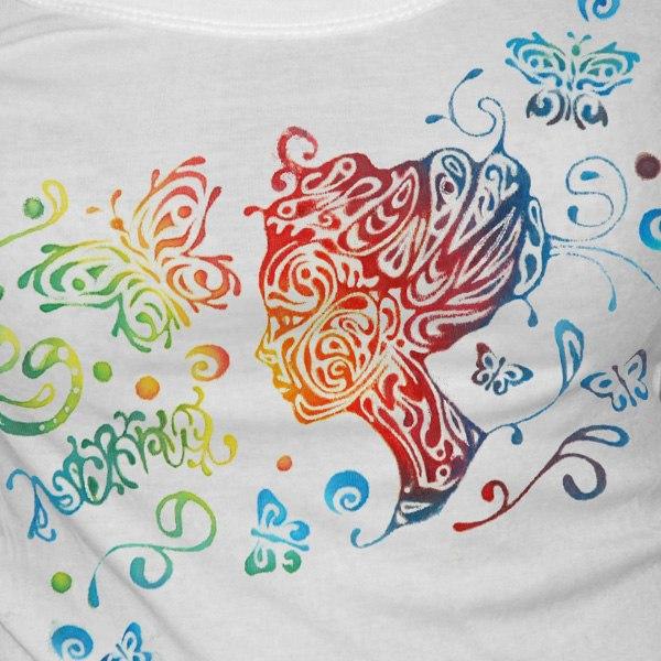 Рисунки на футболках акриловыми красками своими руками фото