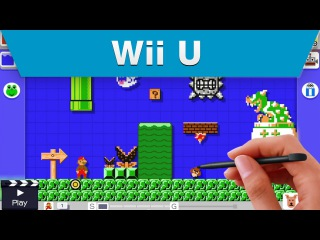 Wii U - Super Mario Maker Coming Soon Trailer