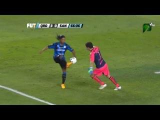 Ronaldinho Le Roba balon y Gol Anulado Queretaro vs Santos 3-0 Liga MX Final Vuelta 31/05/2015
