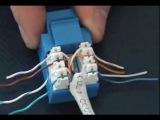 Заделка UTP кабеля в keystone RJ-45