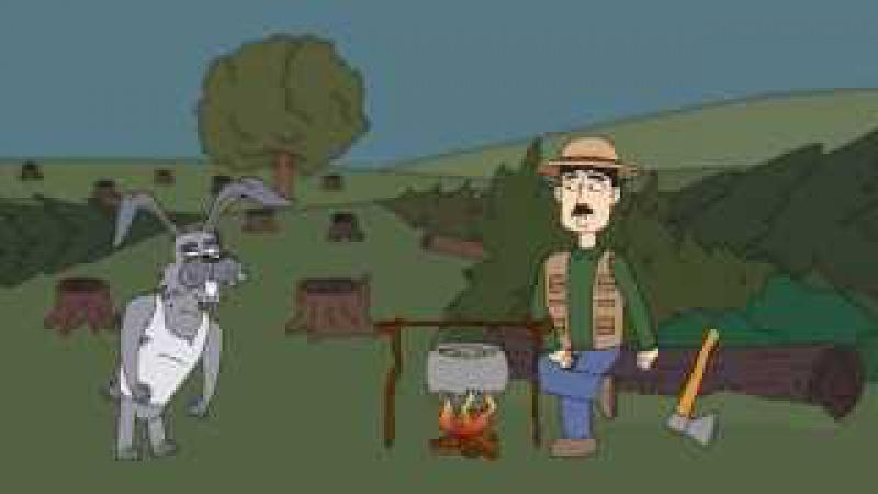 Лесоруб и заяц