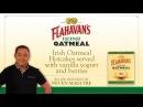 Flahavan's Irish Oatmeal Hotcakes served with vanilla yogurt and berries