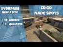 CS:GO Nade Spots Ep 12 - New Overpass A Site 19 Smokes and 2 Molotovs - Quick Version