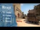 CS:GO Nade Spots Ep 2 - Mirage 2016 28 Smokes, 16 Flashes, 5 Molotovs and 3 nades - Quick Version