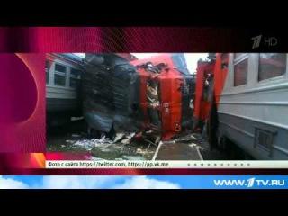Угнал электричку и врезался в поезд в Подмосковье!