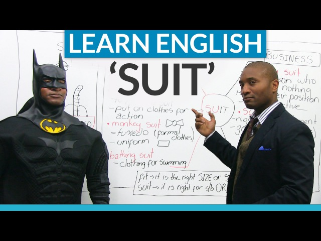 Idioms and expressions in English with SUIT