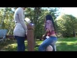 Christina and Angelina - Backyard Pony Play