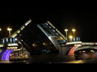 Развод Благовещенского моста в Питере, 10 Мая 2015 г.