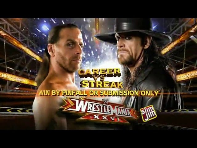 The Undertaker vs Shawn Michaels WWE Wrestlemania 26 Full Match Hd