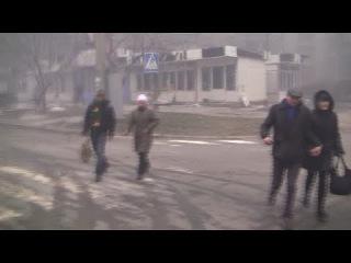 Видео очевидца сразу после обстрела Мариуполя
