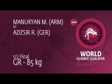 M. MANUKYAN (ARM) df. R. AZIZSIR (GER) by TF, 12-4