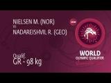 Qual. GR - 98 kg: R. NADAREISHVIL (GEO) df. M. NIELSEN (NOR), 3-1