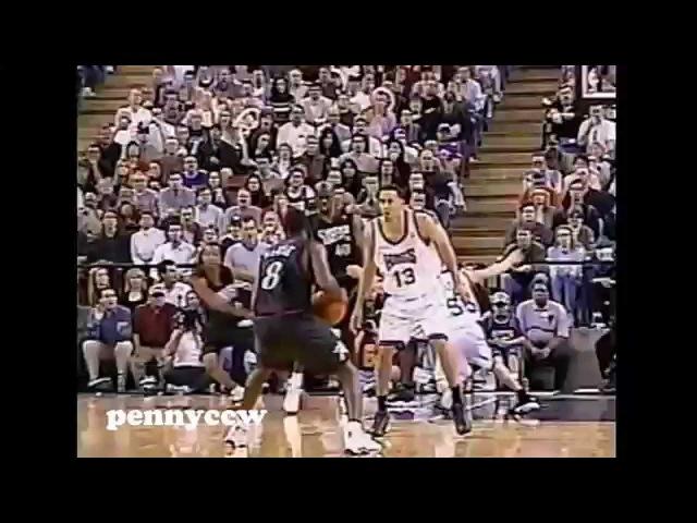 Allen Iverson 46pts vs Chris Webber the Kings NBA (2001) *upgrade version