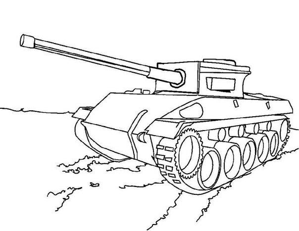 Раскраска с танками