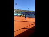 Bestie! ??? @vika7 training in Madrid ?? #MMOPEN2016 #azarenka