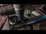 Плохой апгрейд ноутбука , саморемонт , не ремонтируйте сами , кривые руки пользователя .