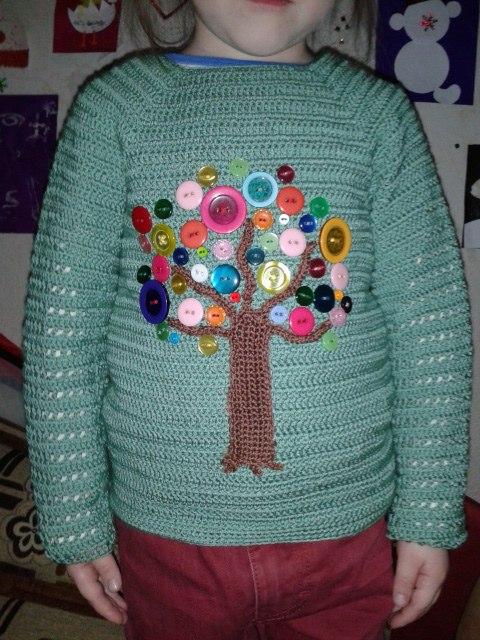 """扣子的妙用:""""衬衫上的钮扣树"""" - maomao - 我随心动"""