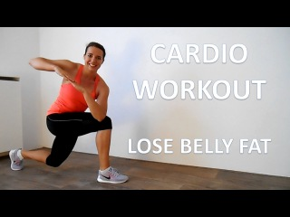 20 Minute Cardio Workout To Lose Belly Fat – At Home Calorie Burning Cardio & Strength Exercises