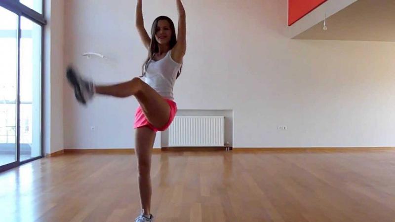 белый фитнес видео