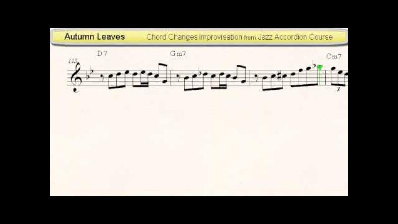 Autumn Leaves - Jazz Accordion Sheet Music