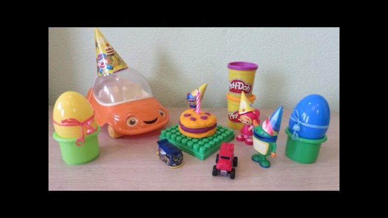 Team Umizoomi Birthday full episodes english Milli Geo Bot UmiCar nickjr kinder surprise eggs
