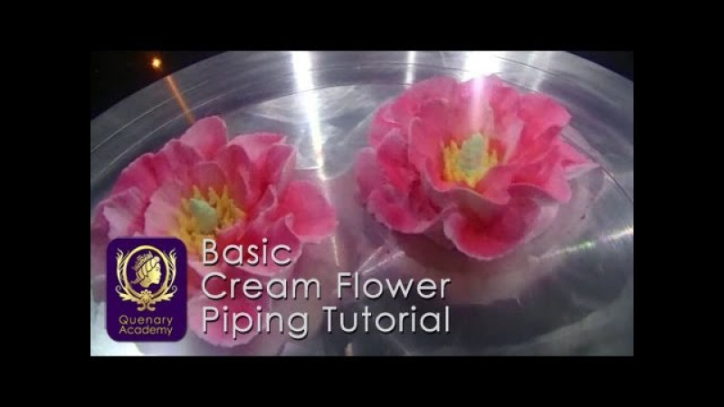 Quenary Academy Basic Cake Decoration - Piping Tutorial - How to create Cream Flower 4
