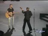 Eros Ramazotti &amp Adriano Celentano performing on live TV