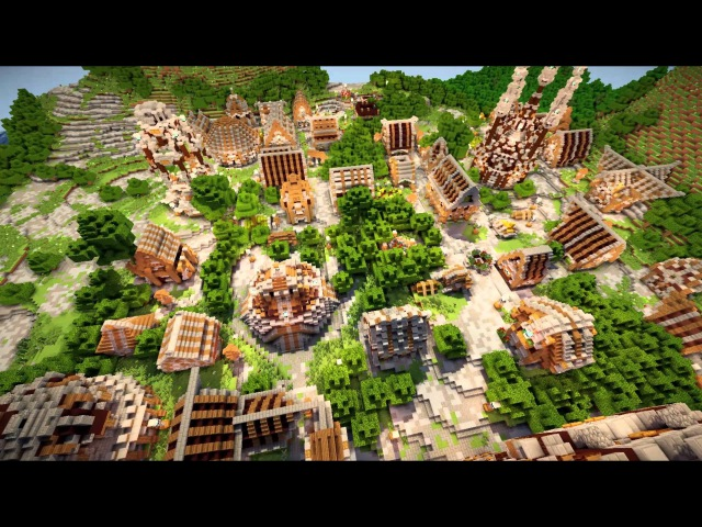 Minecraft Timelapse Populated Place