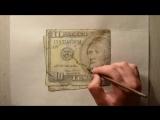 Талантливые рисунки американской валюты