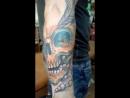 тату рукав работа в процессе татуировка в Черкассах