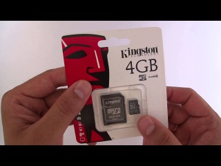 Карта памяти MicroSDHC 4Gb Kingston Class 4 адаптер SD
