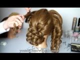 Bridal Curly Updo Hairstyles For Medium Hair. Прическа на свадьбу, прическа на выпускной
