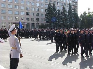 Торжественный марш. 1 сентября в СПбУ МВД РФ.