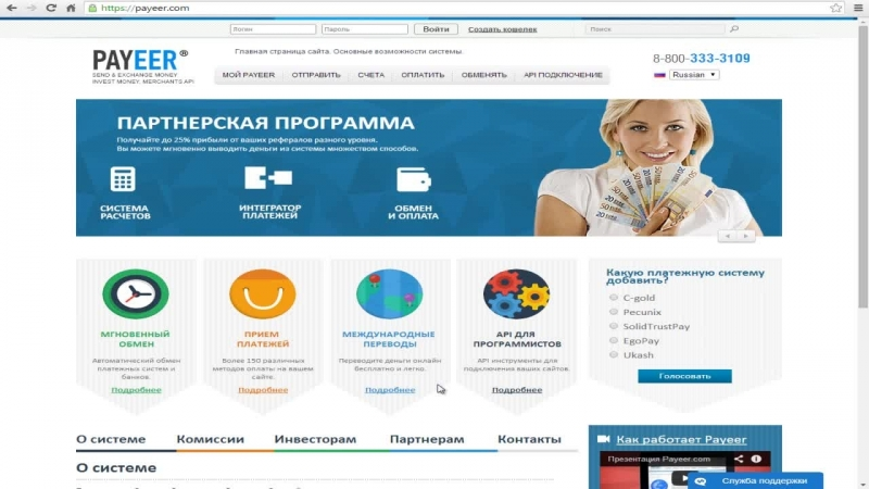 Регистрация в платежной системе Paeer.