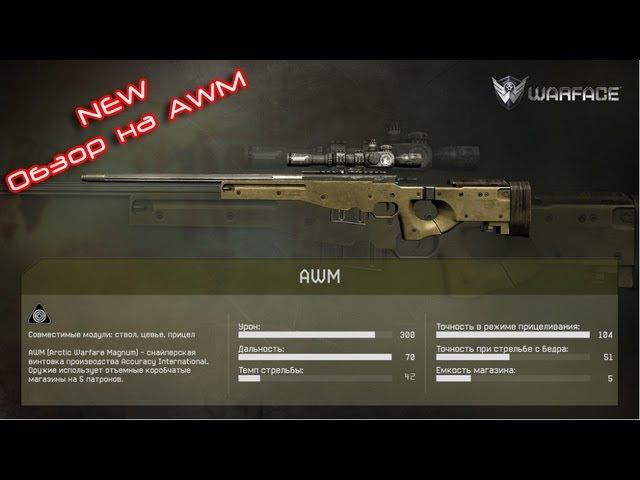 Варфейс(Warface) Обзор на винтовку снайпера АВМ (AWM) мясорубка ПВП