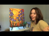 How To Acrylic Paint The Sunset With Flowers