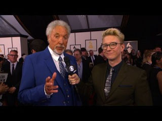 GRAMMY Awards - Tom Jones Tells Tyler Oakley About Jessie J Collaboration