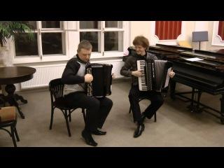 Баян и аккордеон - Французский вальс и Смоленский гусачок