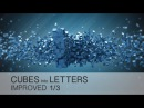 Cinema 4D Tutorial - Cubes Into Letters 13 - IMPROVED version