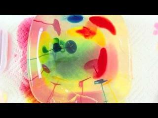 Science & Art Activity for Kids: Gelatin Streaking