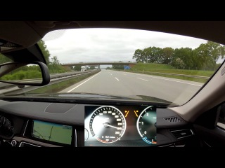 A fast drive on the Autobahn A1 with a BMW 730d, Part 2: From Hamburg to Bremen