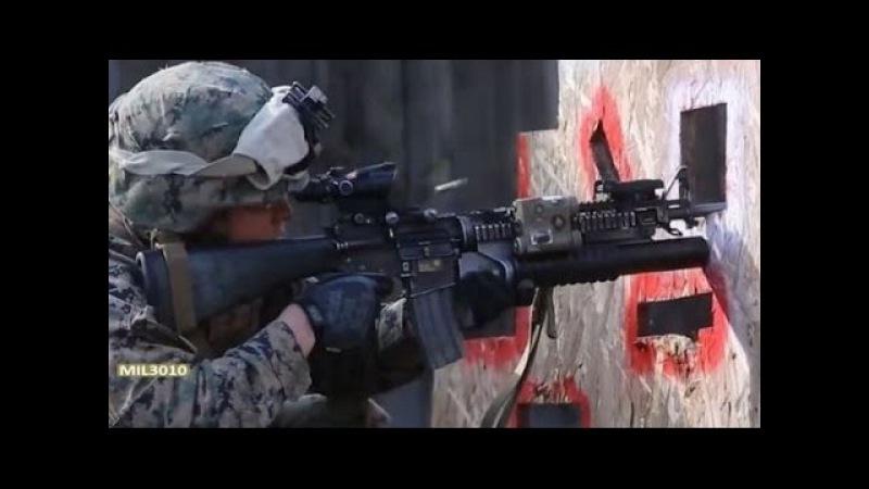 Автомат M4 и M16 / Тренировочная стрельба по мишеням / Морская пехота США