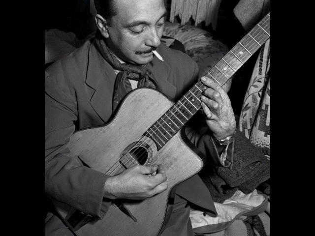 Django Reinhardt Improvisation n°1 (1937) - jazz guitar solo transcription video by Gilles Rea