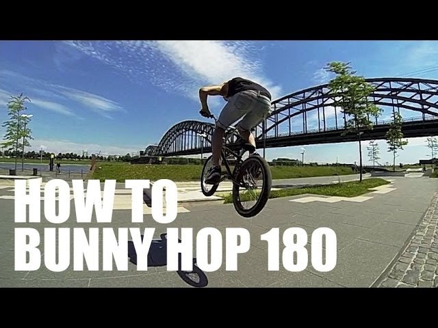 How to 180 bunny hop BMX/MTB - Как сделать банни-хоп 180 на BMX | Школа BMX Online 2 Дима Гордей