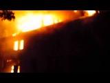 Крупный пожар в Челябинске на улице Туруханской, 35