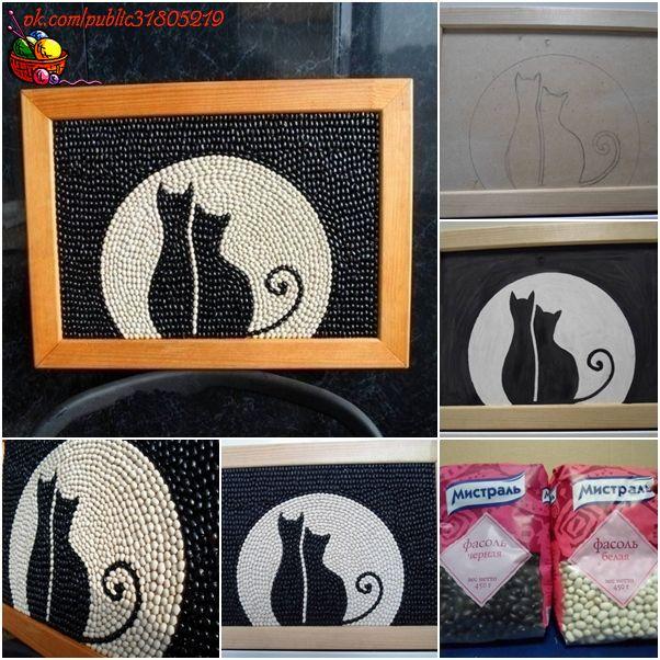 Картины своими руками кошки