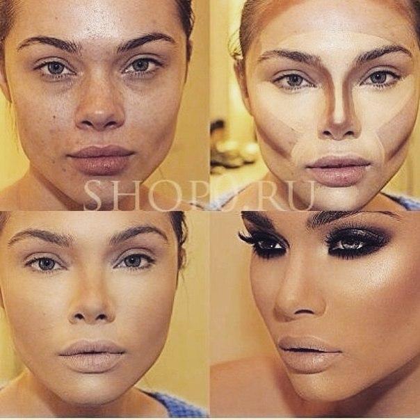 Как сделать лицо с помощью макияжа полнее