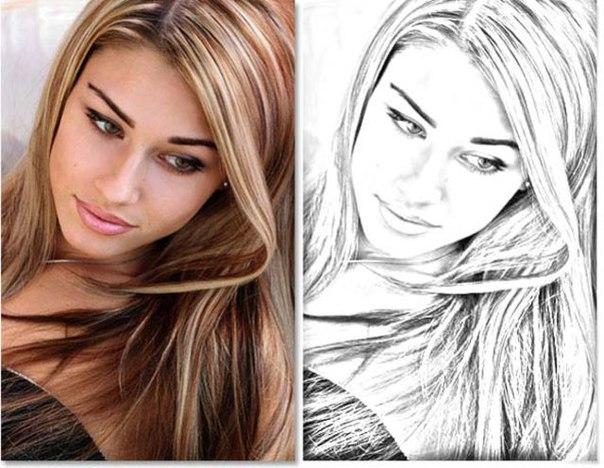 Как из фото сделать карандашный рисунок фотошоп