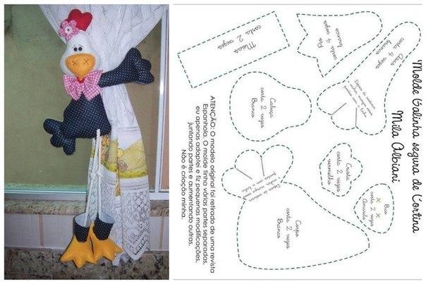 Прихватки из ткани для штор