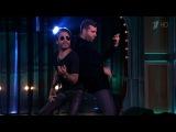 Вечерний Ургант. Иван Ургант и Ленни Кравиц играют на невидимых гитарах (21.10.2014) Lenny Kravitz